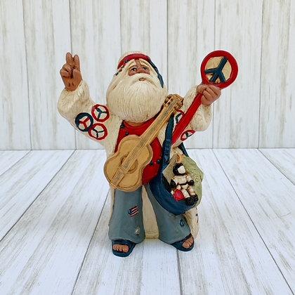 Patriotic Hippy Santa