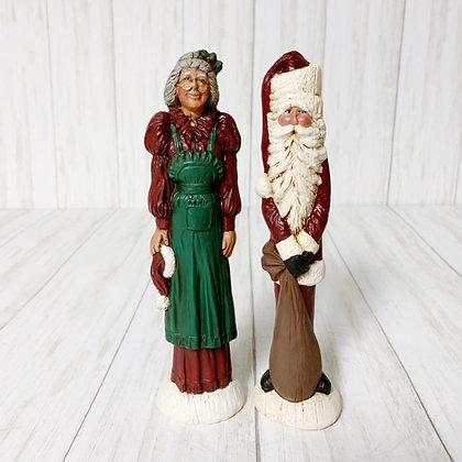Pencil santas Mr. & Mrs. Claus