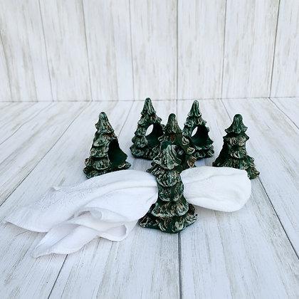Snowcapped Napkin Rings - Set of 6