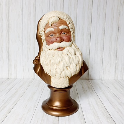 Bronze Santa Bust