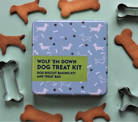 Wolf 'em down Dog Treat Kit
