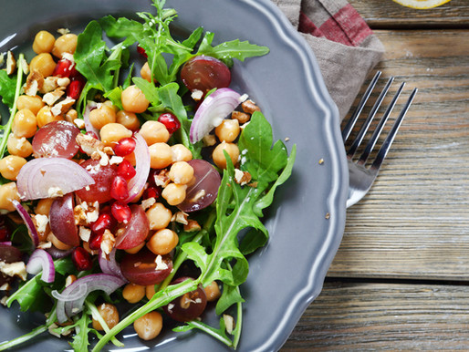 CHICKPEA, FARRO, & GREENS SALAD