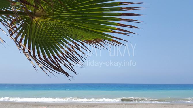 Das Meer hat die Farbe der Karibik, am Susa Beach Park in Demirtaş ☼