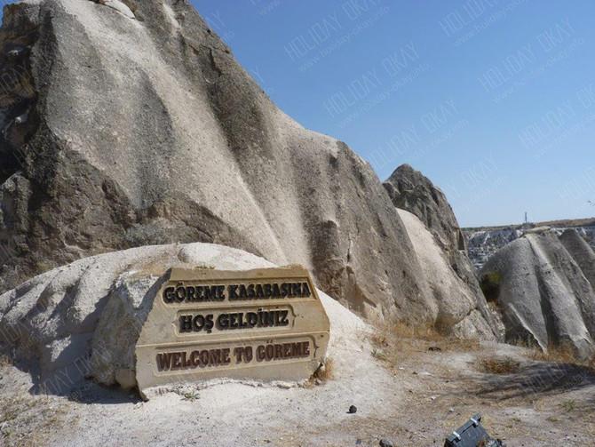 Der Nationalpark und Ort Göreme in Kappadokien