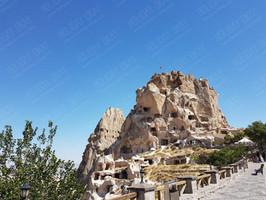 Die Felsenburg von UÇHİSAR in Kappadokien