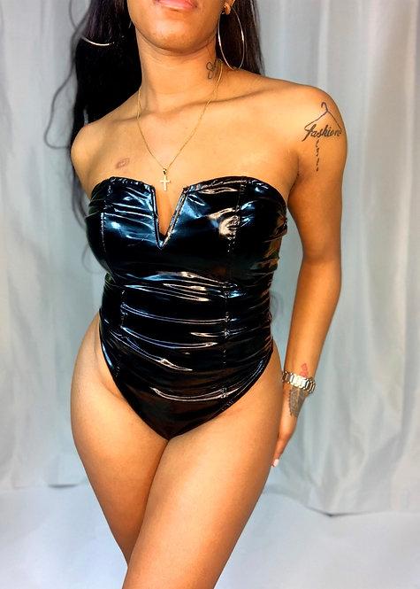 jadaB. Leather Bodysuit