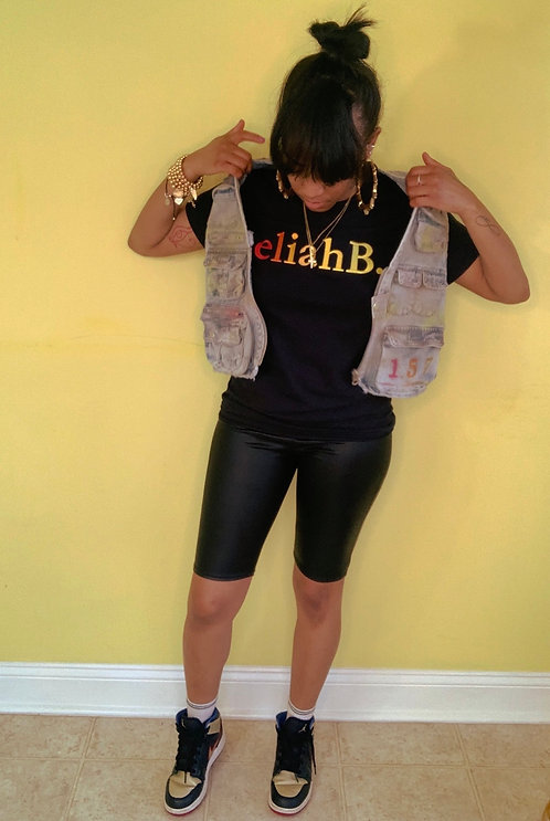 viviB. Distressed Vest
