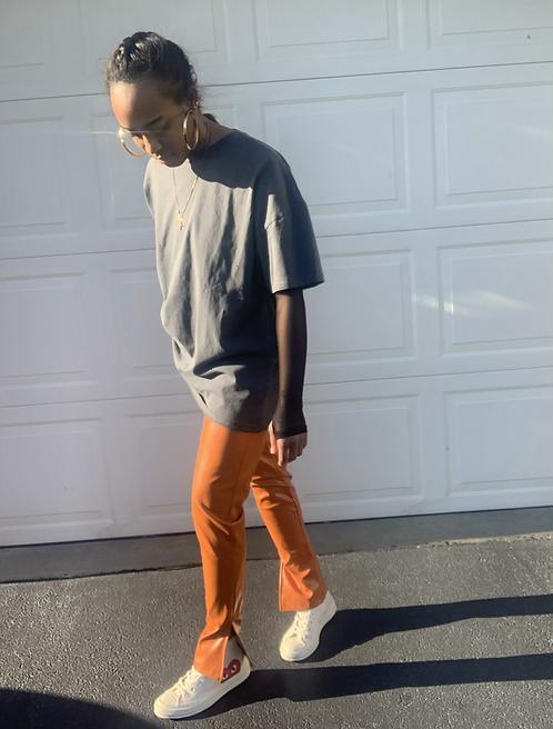 joyceB. Leather Trousers