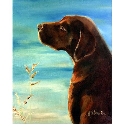 PRINT Chocolate Labrador Retriever