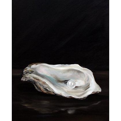 PRINT Oyster Art Oil Painting Sea Food Ocean Water
