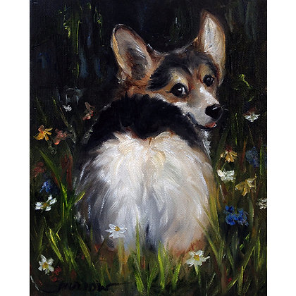 PRINT Pembroke Welsh Corgi Dog Puppy Art