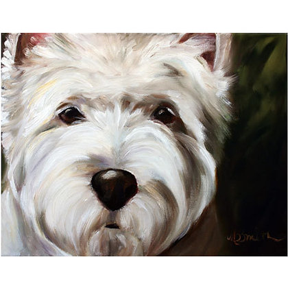 PRINT Westie West Highland Terrier Dog Puppy Art