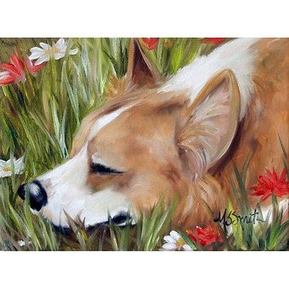 PRINT Pembroke Welsh Corgi Dog Art