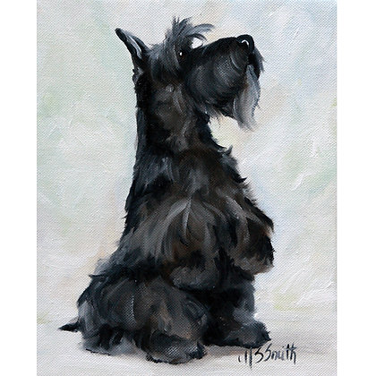 PRINT Black Scottish Terrier Scottie Dog