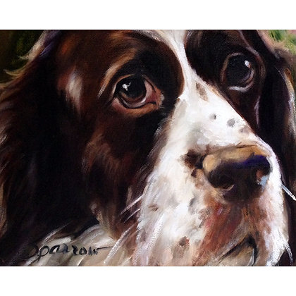 PRINT Springer Spaniel Dog Face Art Print