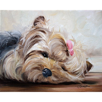 PRINT Yorkie Yorkshire Terrier Dog Puppy Art