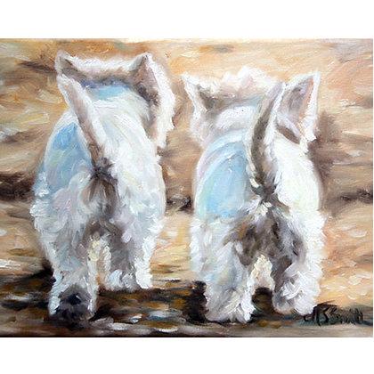 PRINT Westie West Highland Terrier Dog Puppy Art