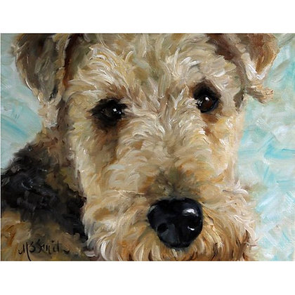 PRINT Airedale Terrier Dog