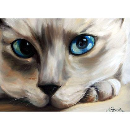 PRINT Siamese Cat Eyes