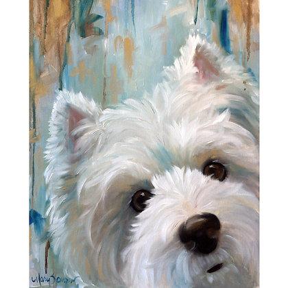 PRINT Westie West Highland Terrier Dog Art