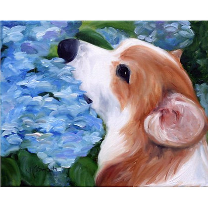 PRINT Pembroke Welsh Corgi Dog Art