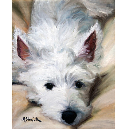 PRINT Westie West Highland Terrier Dog Art