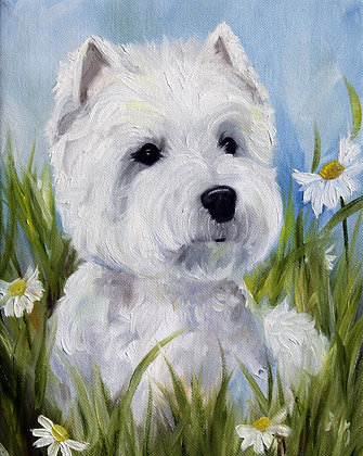 PRINT Westie West Highland Terrier Dog
