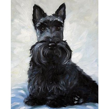 PRINT Black Scottish Terrier Scottie Dog Art