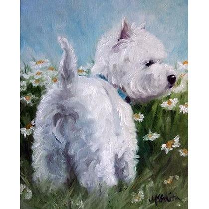 PRINT Westie West Highland Terrier Dog Pup