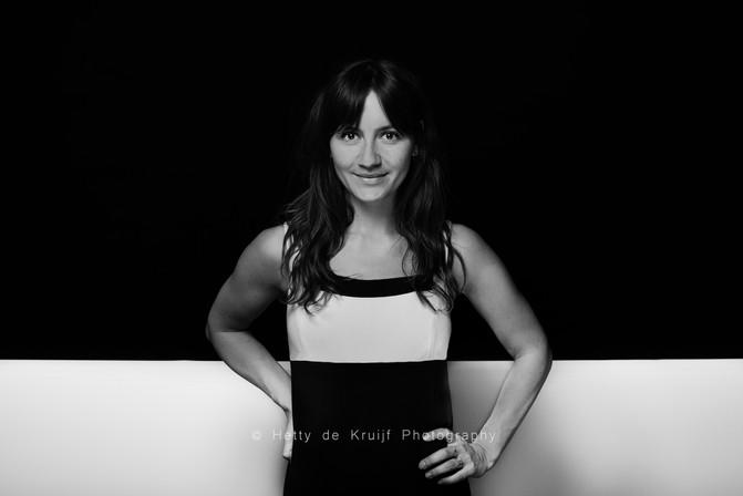 Actress Anne van der Burg