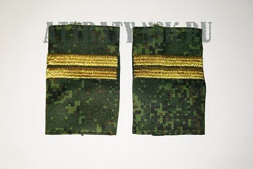 """Ф/пог. """"русская цифра"""" вышит. поперечные полосы (младший сержант)"""