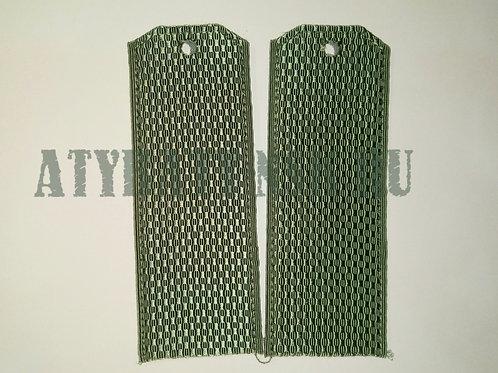 Погоны светло-оливковые чистые (на рубашку)