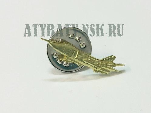 Значок мет. Самолет СУ-24 миниат. 24х6 мм на пимсе (мельхиор)