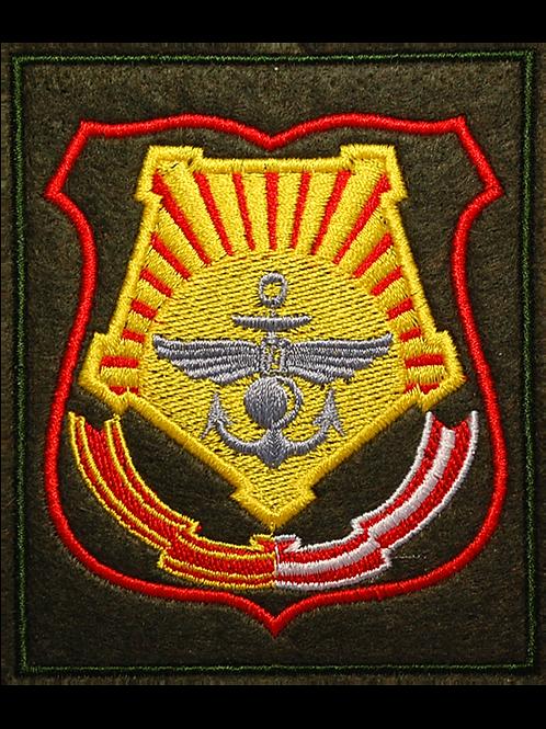 Шеврон нарукавный штаба ДВО (вышитый красный кант)