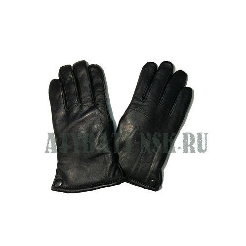 Перчатки кожаные зимние на меху