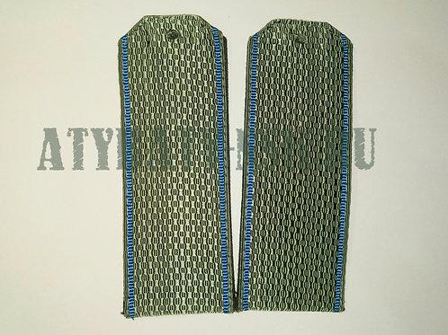 Погоны светло-оливковые голуб. кант (на рубашку)