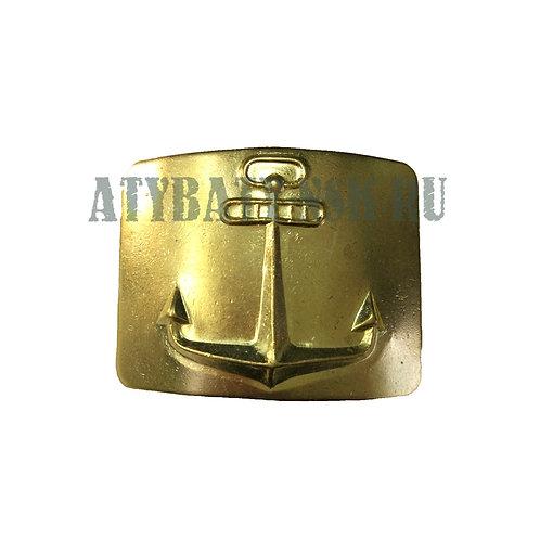 Бляха на солд. ремень латунная Якорь (речной флот)