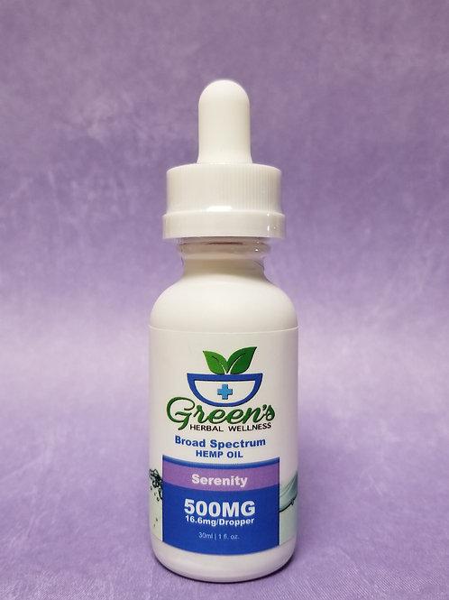 Green's - Broad Spectrum Tincture - 500mg\Serenity 30ml Glass