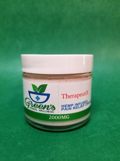 Green's - TheraputiX Pain Relief Cream - 2000mg 2oz Glass Jar