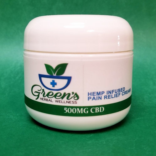 Green's - Pain Relief Cream - 500mg 2 oz Plastic