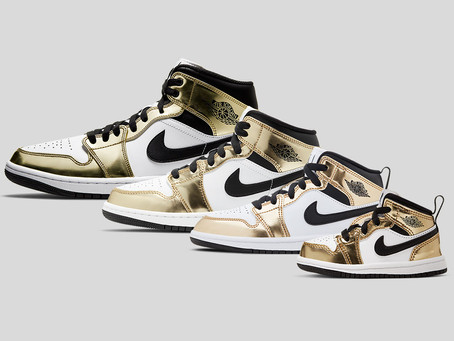"AIR JORDAN 1 MID SE ""METALLIC GOLD"""
