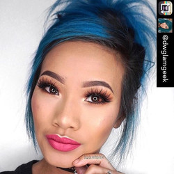 Collaborating with _dwglamgeek was amazing! Check her color out online Repost from _dwglamgeek using