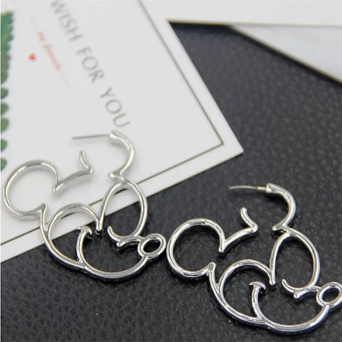 Mickey Mouse Hoops Silver