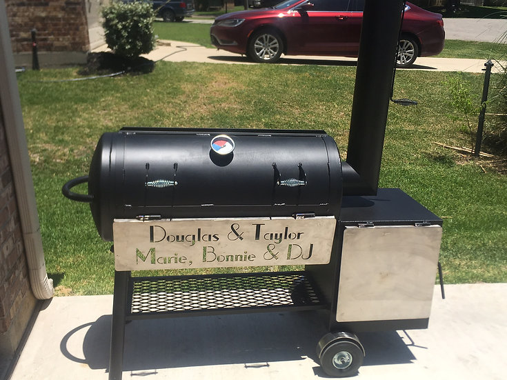 "20"" X 36"" OFFSET SMOKER WITH A 20"" X 20"" SQUARE FIREBOX"