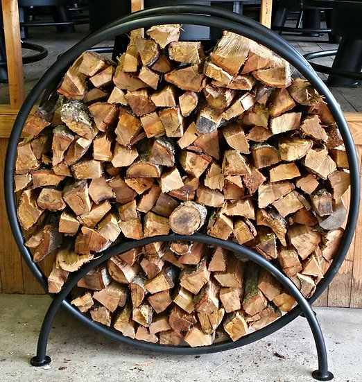 FULL CIRCLE FIREWOOD RACK