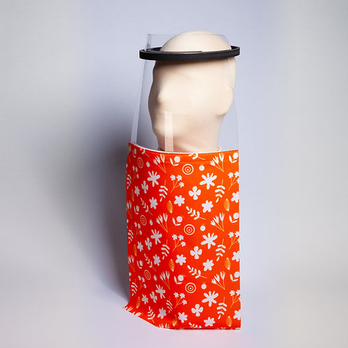 Orange Flower Shield Drape