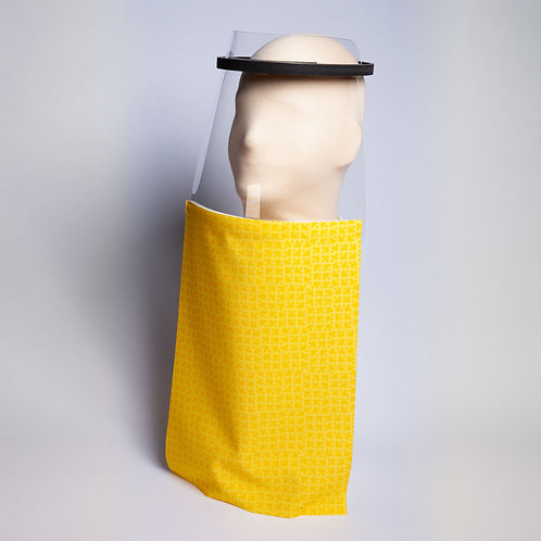 Yellow Geometric Shield Drape