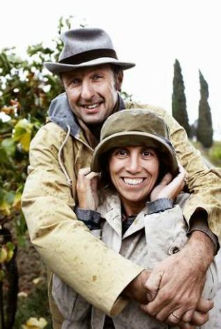 Giovanna e Stefano, proprietari di Pacina