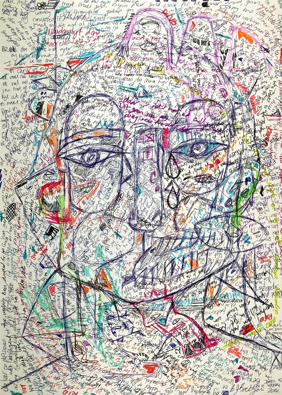 Drawing, 70 x 50cm (27 x 19in)