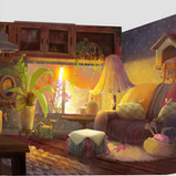 Serina mo_Visual Development_Concept Art_Interior Lighting_Sunset.jpg